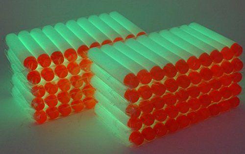 100pcs 7.2cm Souple Fléchettes Fluorescence Recharge Balle pour jouet Nerf: Size: Approx. 2.83 x 0.51 pouces / 72 x 13mm De haute qualité,…
