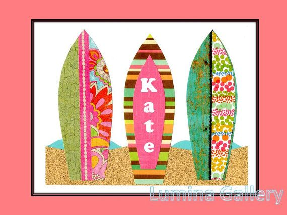 25 best images about surfboards on pinterest surf board for Surf nursery ideas