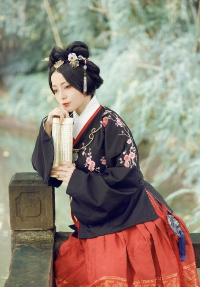 Asia | Portrait of a woman wearing traditional clothes, China #hanfu #embroidery