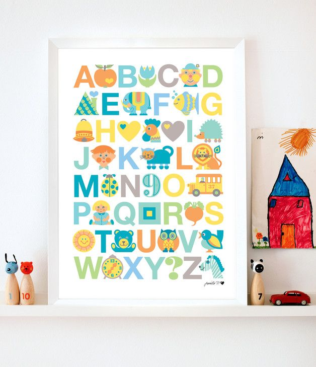 byGraziela KinderzimmerPoster ABC in PASTELL Kinder