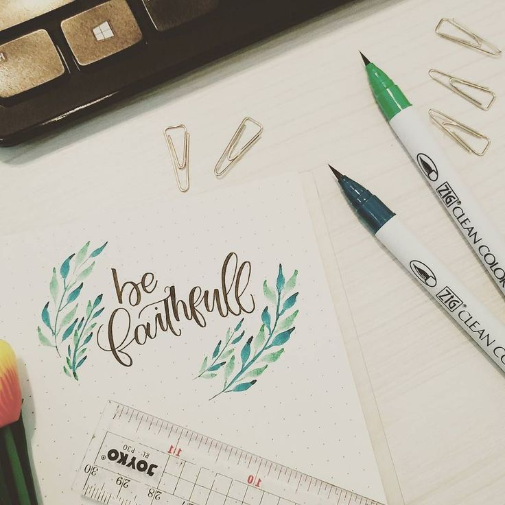 it should be with one L I know right I mean its not my feed without typos here and there.. sorry guys..  . . . #handlettering #brushlettering #brushcalligraphy #lettering #watercolor #watercolorlettering  #faithful #cute #flatlay