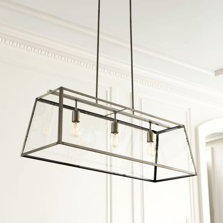Eldridge rectangular chandelier home sweet haven for Rectangular dining room light