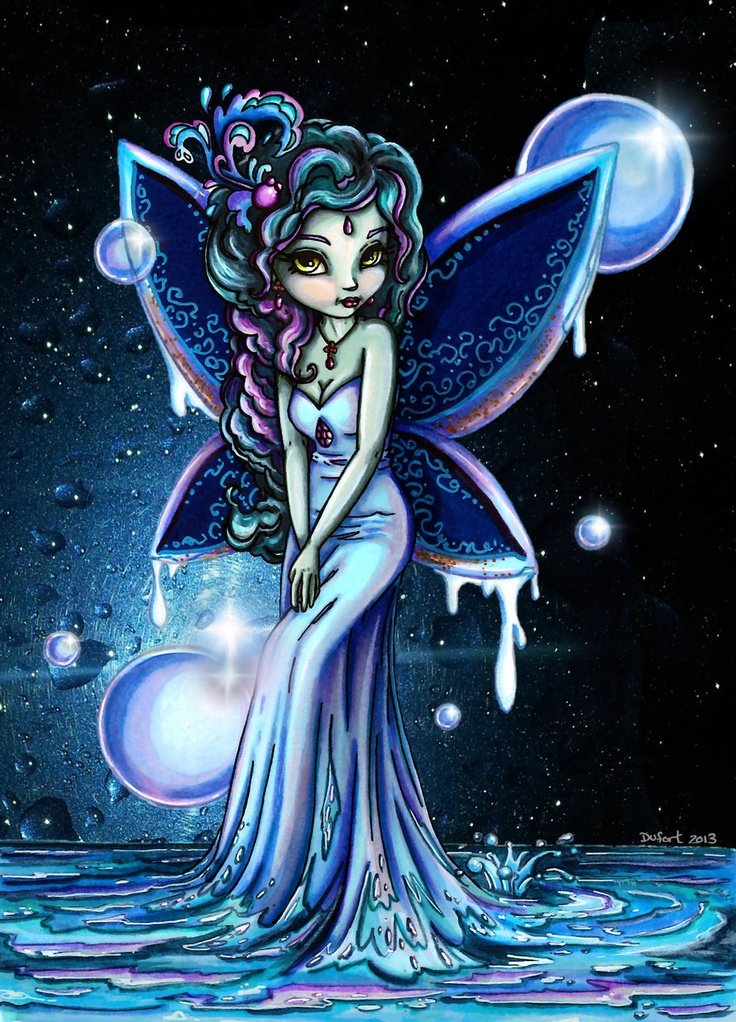 Water Fairy - Colored by *JadeDragonne on deviantART