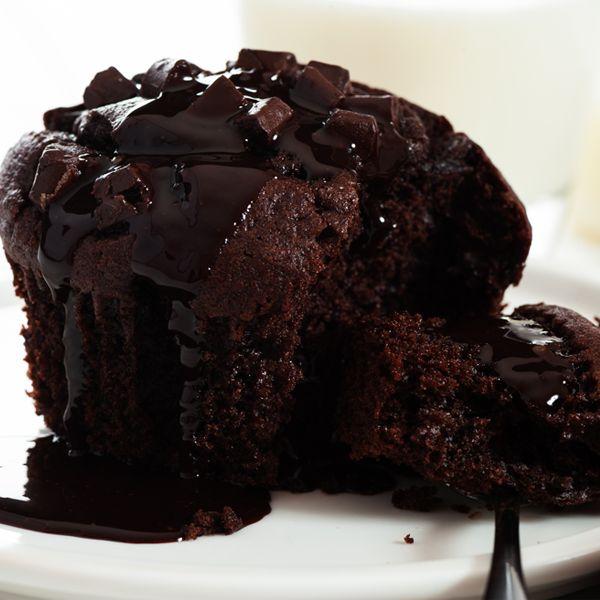 Triple Chocolate Chunk Cupcakes