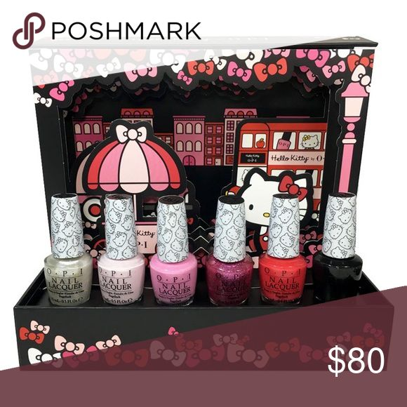 Hello Kitty O•P•I Set 6 Nail polish gift set Hello Kitty O•P•I set Nail polish gift set collectors edition, Six large size polishes beautiful set lovely gift for yourself or someone you love    Send me an offer ✨ Makeup