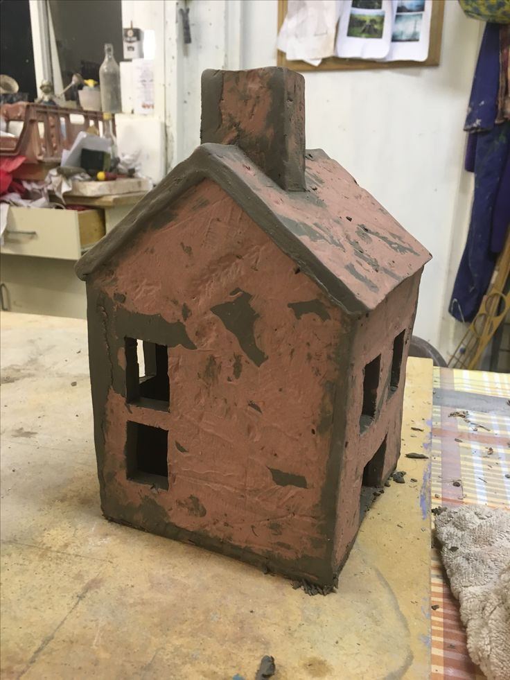 Ceramic Tea light house in progress.