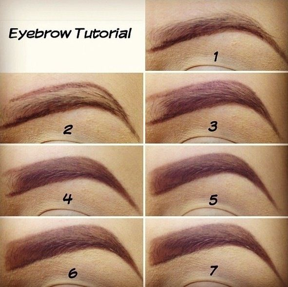 eyebrow step by step