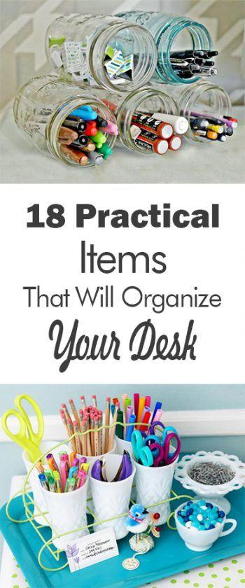 18 practical items that will organize your desk 101 days of organization - Desk Organization Ideas