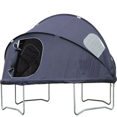 Trampoline Tent. Seriously!?? Why didn't they have this cool stuff when I was growing up!! - tomorrows adventures