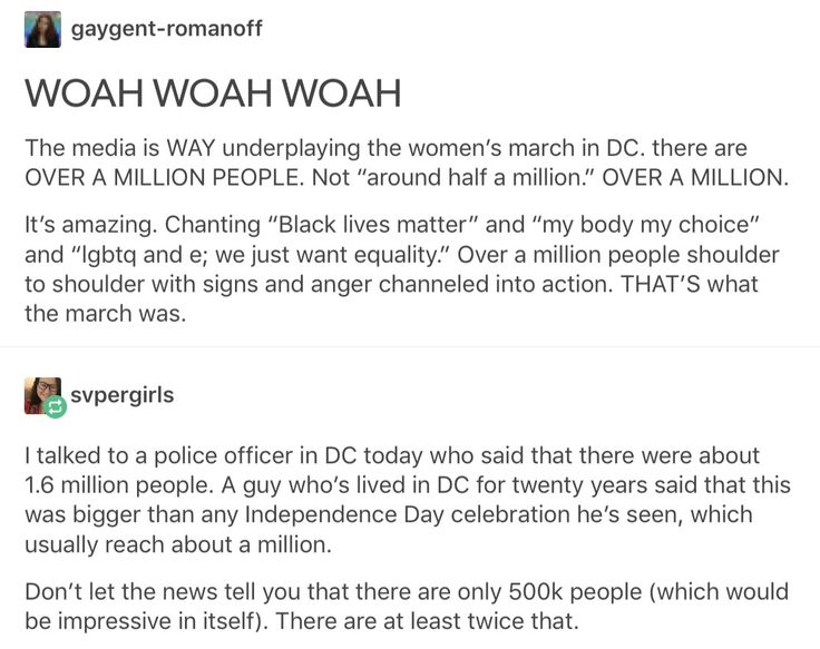 Kudos to all those awesome people who marched~