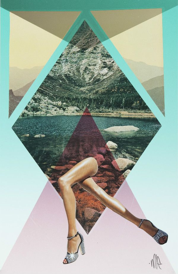 The Art Director for Volcom girl's Emily Hoy contacted us to introduce us to her great collages. Mixing geometric forms and pastel colors with cut-out fashion editorials. Her final visual compositions is very on par with Trendland's love for mixed-media collages.