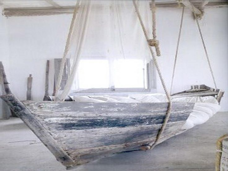 Adore This Hanging Boat Bed Cool Hanging Beds Good Design