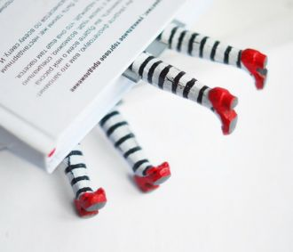 """Wicked Witch Bookmark // gives new meaning to the phrase """"buried in a book"""" haha #designwithhumour"""
