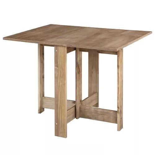 mesa dobrável, madeira maciça e laminado, cera antique md702