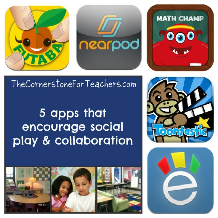 5 apps that encourage social play and collaboration: great recommendations for 1 iPad classrooms and 1:1 iPad classroomsIpad App