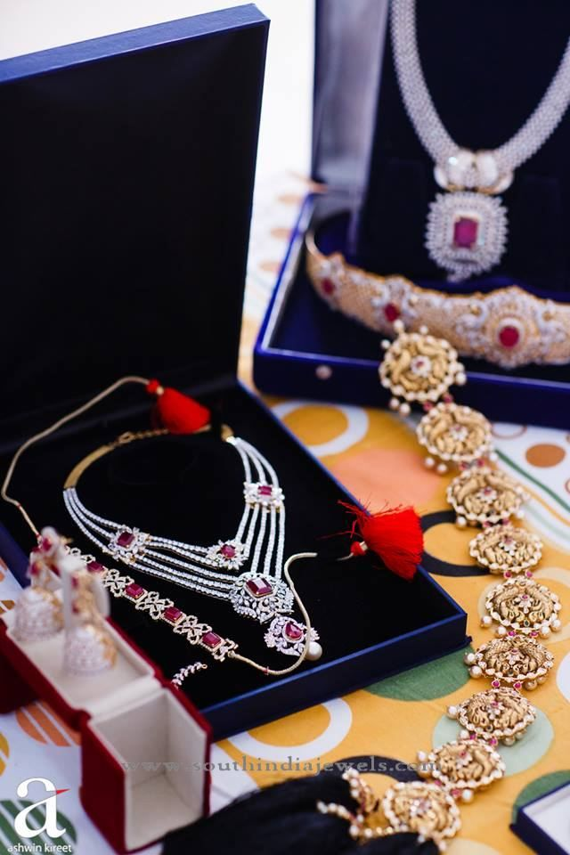 Indian Bridal Diamond Jewellery Sets, Diamond Jewellery Designs, Indian Bridal Jewellery Collections.