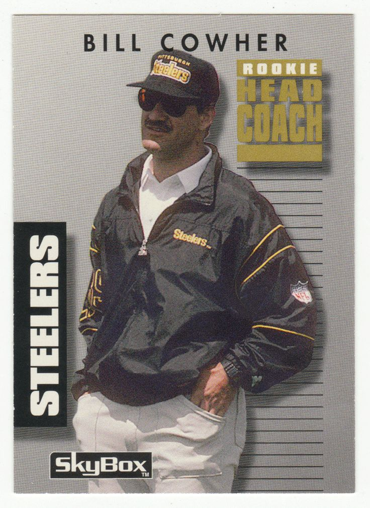 Bill Cowher RC # 14 - 1992 SkyBox Prime Time Football NFL Rookie