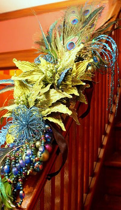 211 best images about peacock christmas on Pinterest