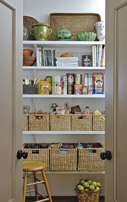 pantry--love the baskets