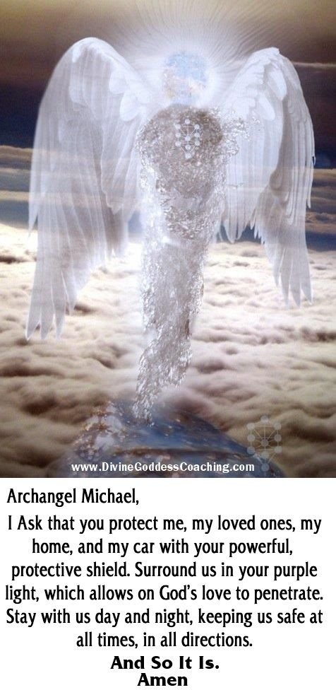 A simple prayer of protection for Archangel Michael.  # divinegoddesscoaching.com