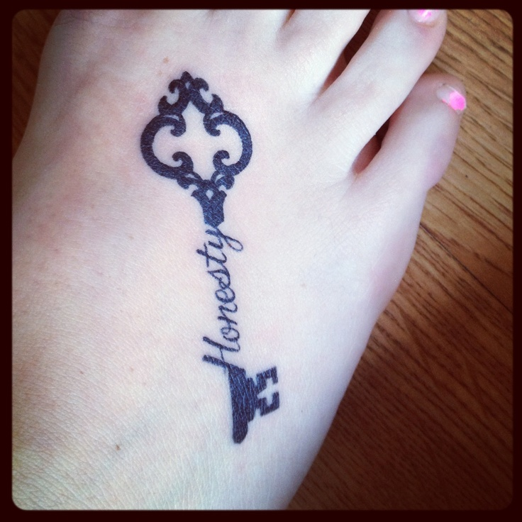 Honesty tattoo..hmm should I get this done? Maybe a lil smaller though :)