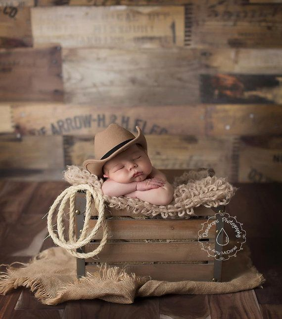 Tan Cowboy Newborn Hat Loopsy Daisy - Yes.