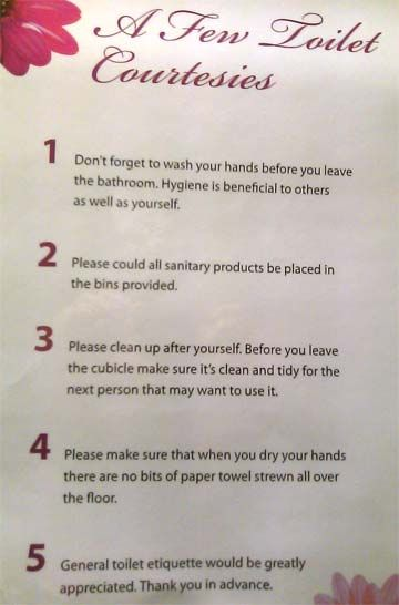 Bathroom Signs To Clean Up After Yourself bathroom etiquette signs for office ~ descargas-mundiales