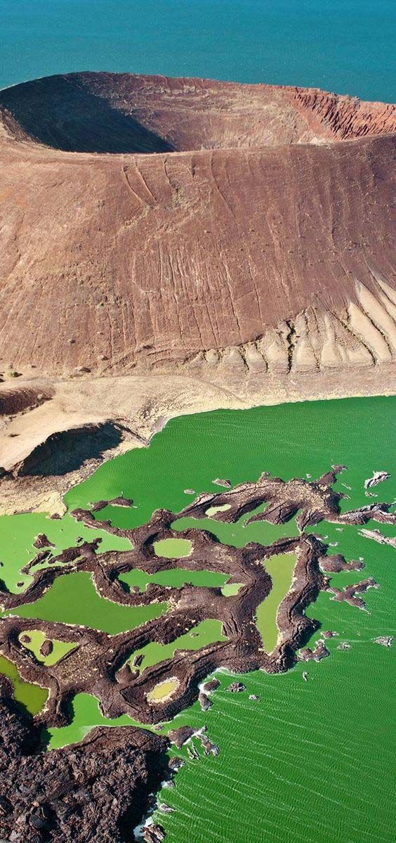 Nabiyotum Crater in Lake Turkana, Great Rift Valley, Kenya