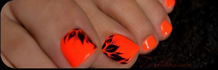 bright orange - black