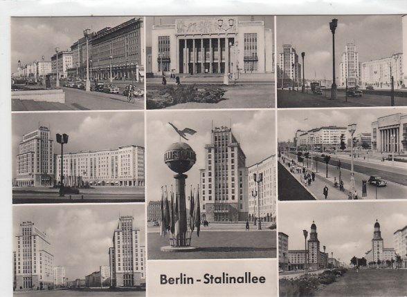 Berlin Friedrichshain Stalinallee Lufthansa-Denkmal 1961