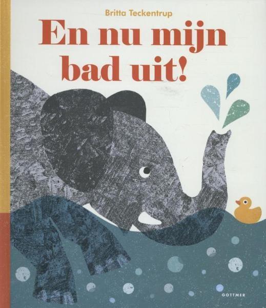 Een grappig verhaaltje over een olifant die in bad zit. Er komen steeds diertjes bij zodat hij minder en minder plaats heeft.