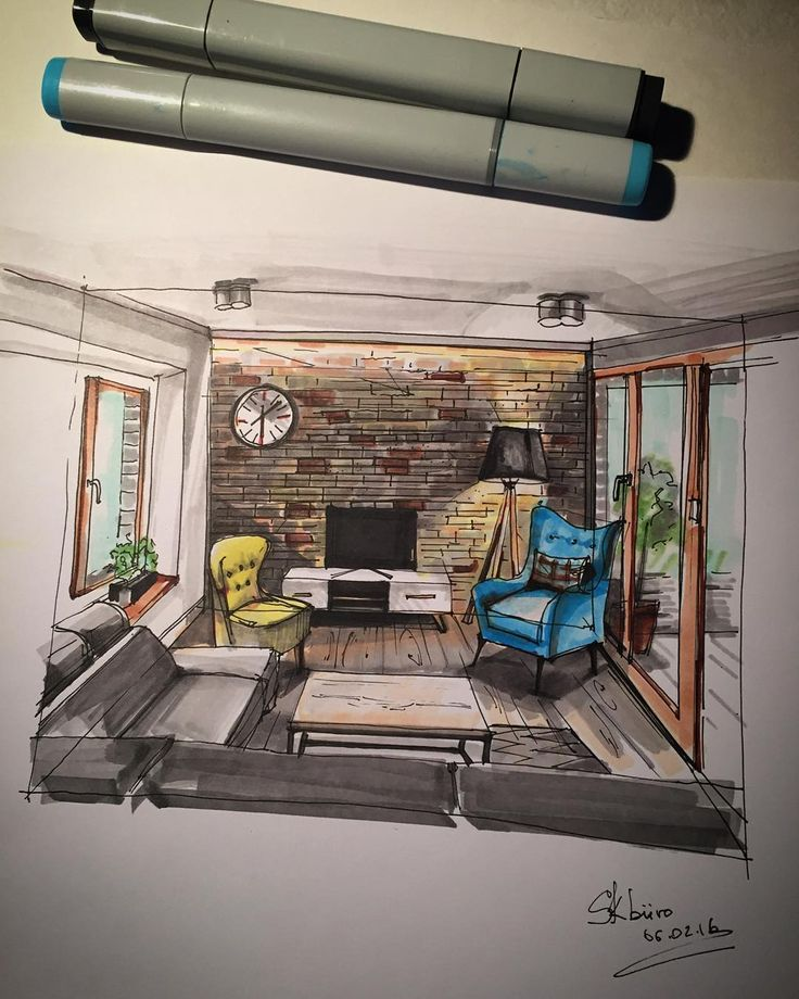 156 best interior sketches images