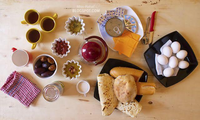سفرة إفطار صباحي ليبي تقليدية Food Cheese Cheese Board