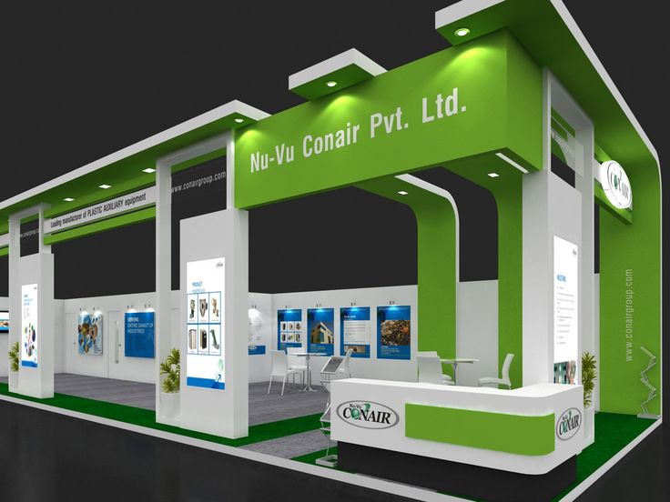 exhibition stall 3d model 17x6 mtr 2 sides open 3d model max 3ds 3
