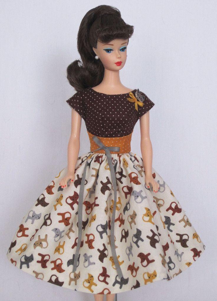 Happy Cat- Vintage Barbie Doll Dress Reproduction Barbie Clothes on eBay http://www.ebay.com/usr/fanfare1901?_trksid=p2047675.l2559