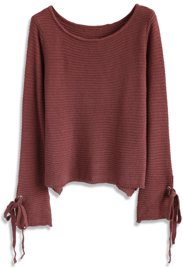 Cozy Weekend Knit Top in Plum - Sweaters - Tops - Retro, Indie and Unique Fashion