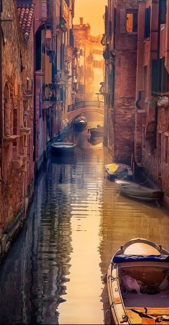 Summer evening ~ Venice canal, Italy