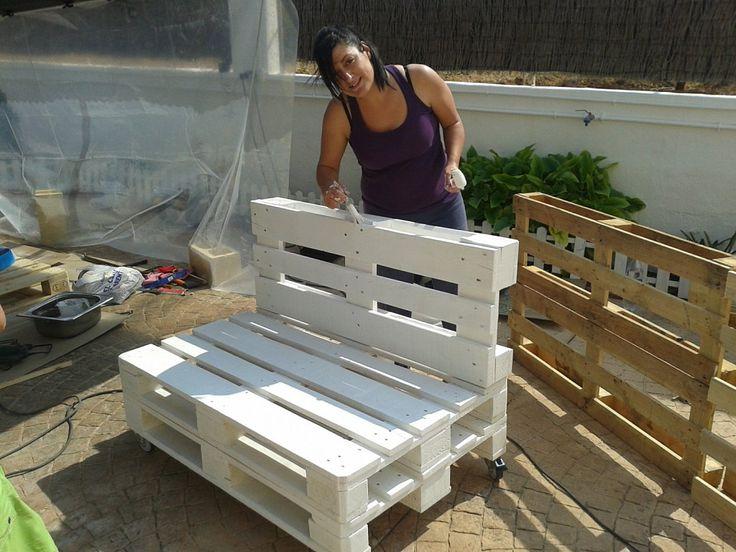 20 best muebles palets images on pinterest garden for Fabricamos muebles de jardin con palets