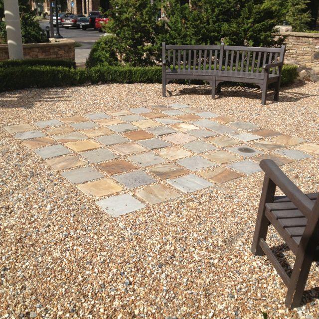 Best 25 river rock patio ideas on pinterest backyard for River rock yard ideas