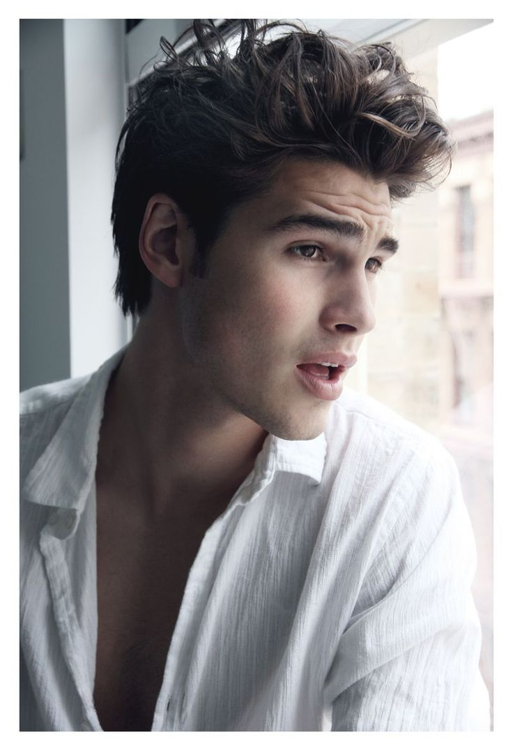 Cute Guy With Brown Hair And Blue Eyes: Justin Lacko Is A 'Homme Body' By Johnny Diaz Nicolaidis