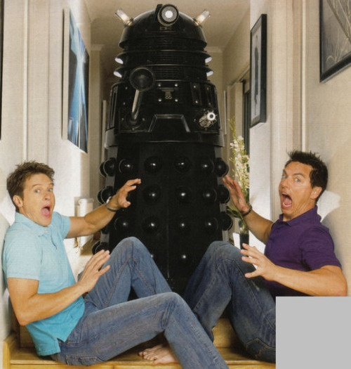 John Barrowman has his own Dalek. I am jealous.  Of the Dalek, it gets to be around John Barrowman! kn