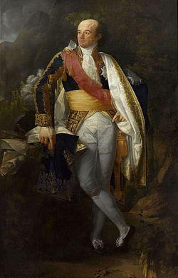Catherine-Dominique de Pérignon, comte de l'Empire et gouverneur de Naples (gravure sur bois du XIXesiècle).