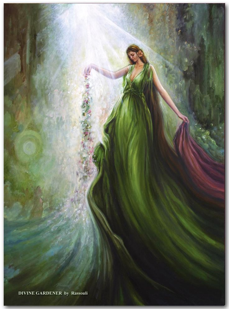 freydoon rassouli divine gardener fusionart paintings for sale buy oil on canvas artwork