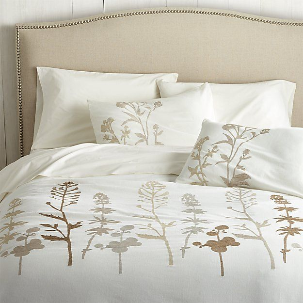 Guest Room? Woodland Natural Full/Queen Duvet Cover | Crate and Barrel