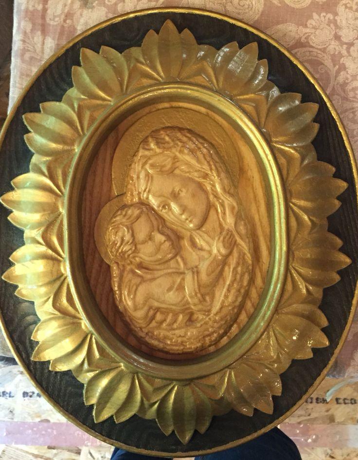 Fecioara Maria cu pruncul Isus Lucrare in propriul atelier