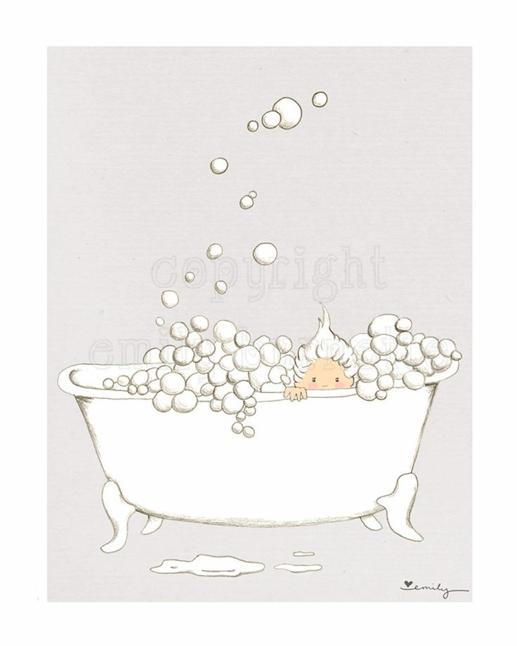 8x10 Print Nice And Clean Children Wall Art Print Bathroom