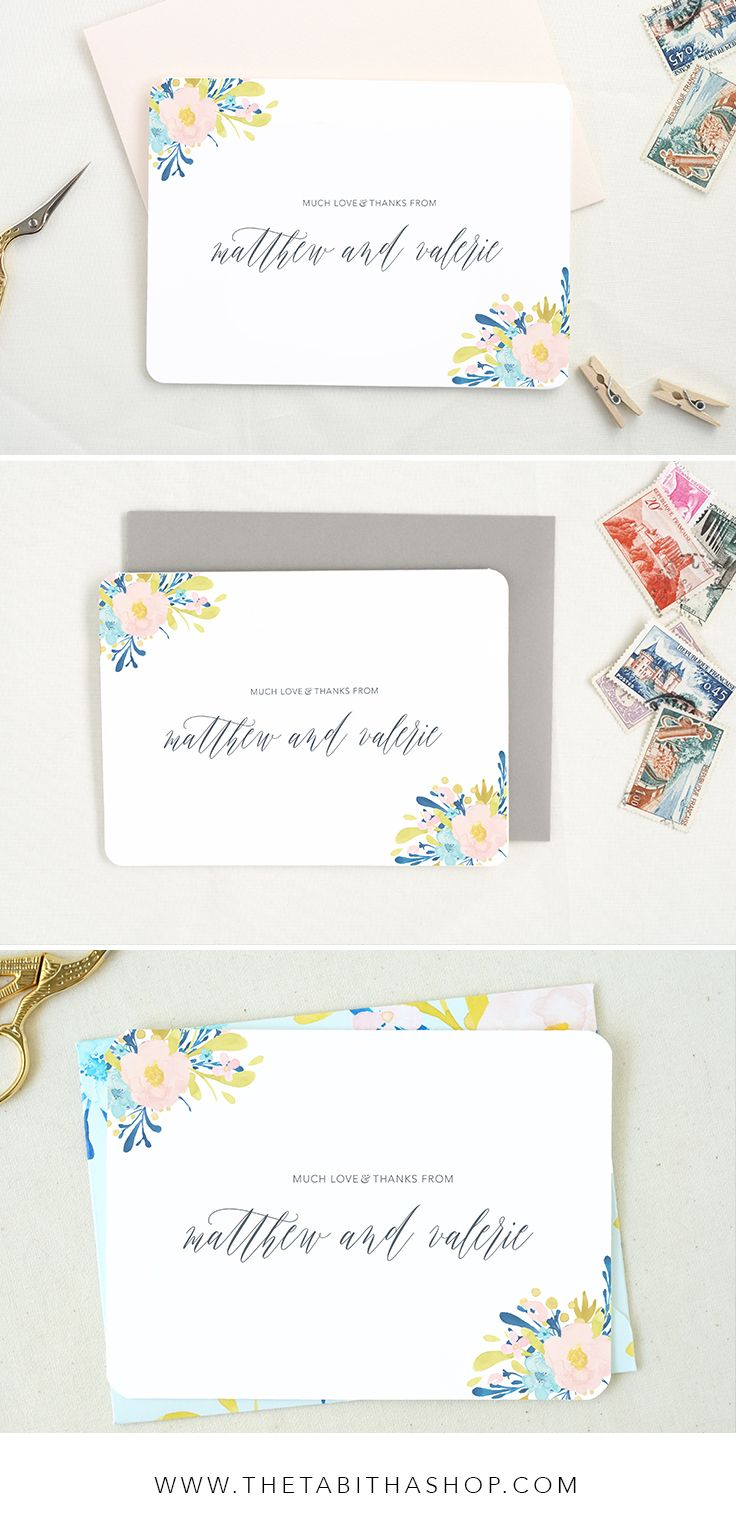 Personalized cards are a perfect last wedding detail to send to all of your guests after your big day. Click the photo to shop!