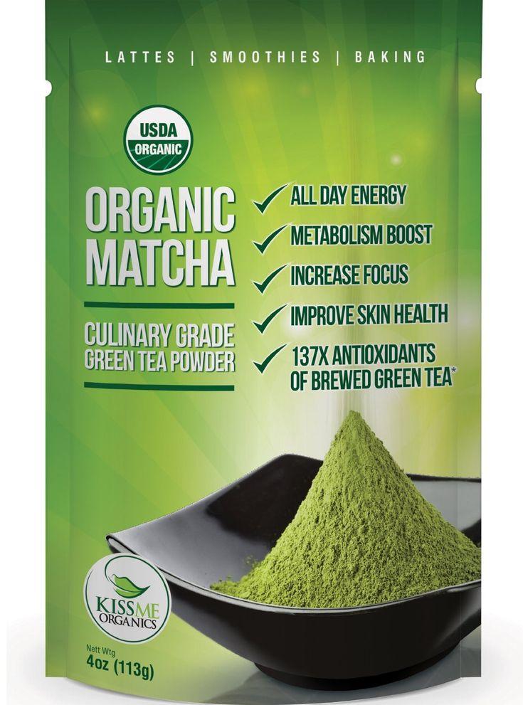 Organic Matcha-Green Tea Powder by Kiss Me Organics