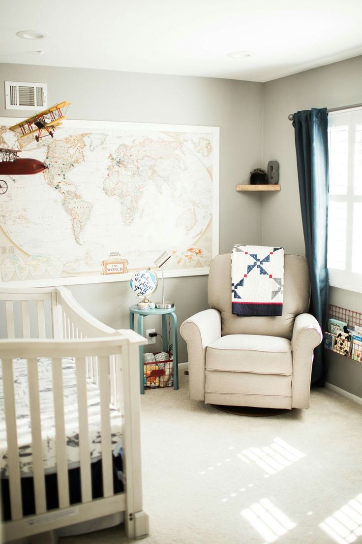 Baby boy room decor pinterest - Vintage Airplane Nursery