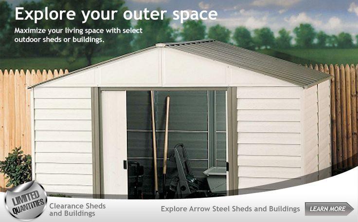 Diy Shelter Kits : Best images about arrow storage sheds on pinterest